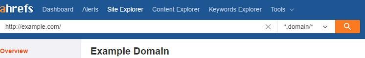 Ahrefsのサイトエクスプローラー画面