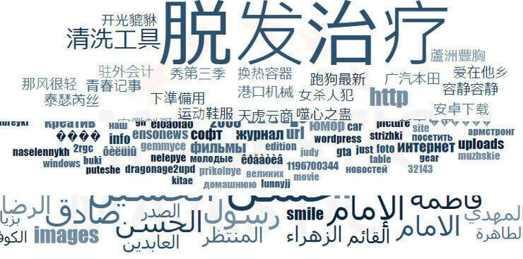 中国語とロシア語とアラビア語