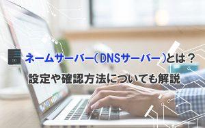 ネームサーバー(DNSサーバー)とは?設定や確認方法についても解説
