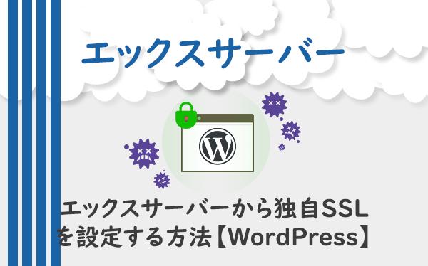 エックスサーバーから独自SSLを設定する方法【WordPress】